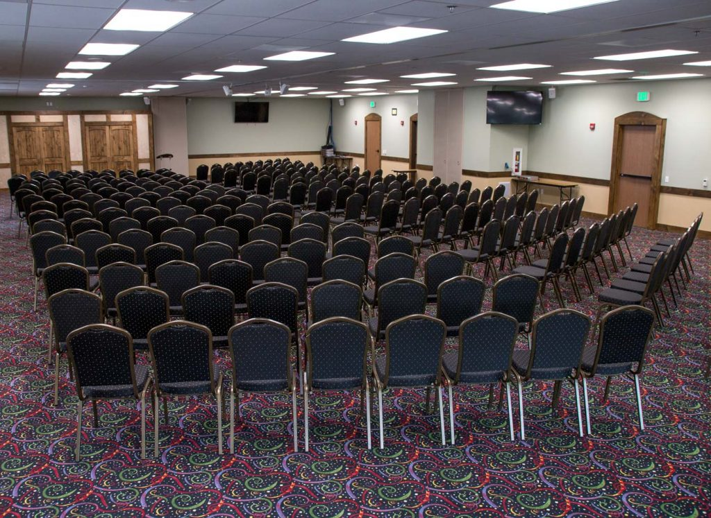 chairs arranged in a conference room