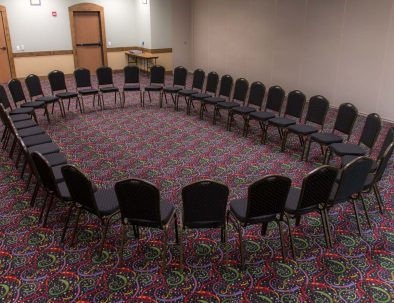 conference room chairs arranged in a circle